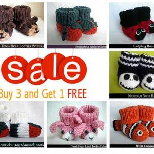Buy Any 3 Baby Booties Patterns and..