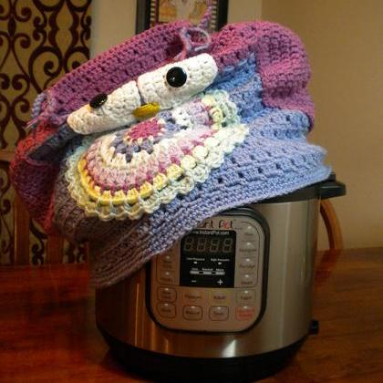 Owl Instant Pot Cover - Crochet Pat..
