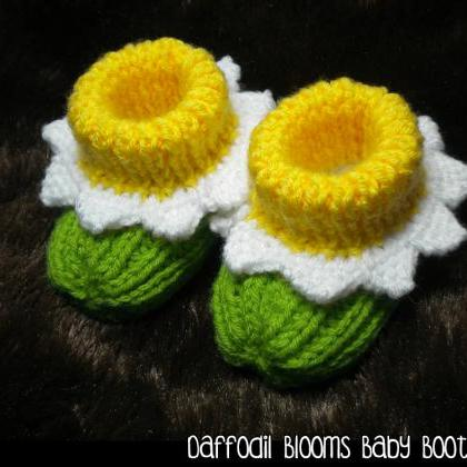 Daffodil Bloom Baby Booties Knittin..