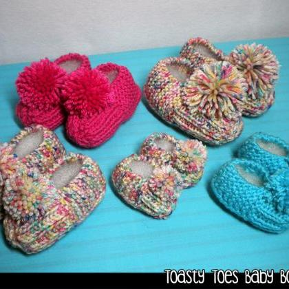 Toasty Toes Baby Booties Knitting P..