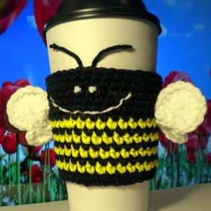 Caffeine BUZZ! Coffee Cozy Crochet ..