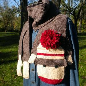 Sock Monkey Scarf