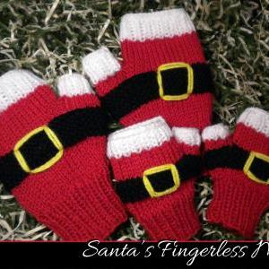 Santa's Fingerless Mitts Knitting P..