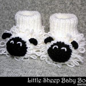 Little Sheep Baby Booties Knitting ..