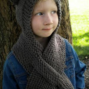 Super Easy Hooded Scarf Knitting Pa..