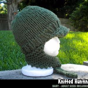 Knitted Hunting Hat for the Family ..