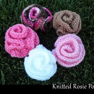 Knitted Rosie Posies Knitting Patte..