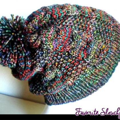 Favorite Slouchy Hat Knitting Patte..
