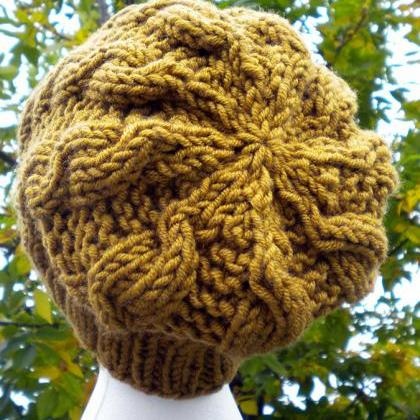 Autumn Cables Slouchy Hat Knitting ..