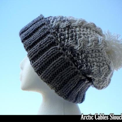 Arctic Cables Slouchy Hat Knitting ..