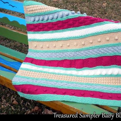 Treasured Sampler Baby Blanket Knit..