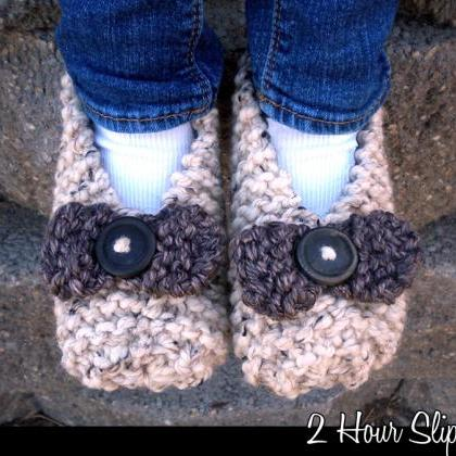 2 Hour Slippers for Adults Knitting..