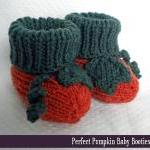 Pumpkin Baby Booties Knitting Patte..