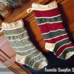 Favorite Sampler Christmas Stocking..