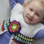 Pretty Posy Vest for Girls Crochet ..