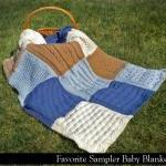 Favorite Sampler Baby Blanket Knitt..