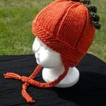 Perfect Pumpkin Hat with Earflaps K..