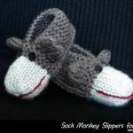 Sock Monkey Slippers for Kids Knitt..