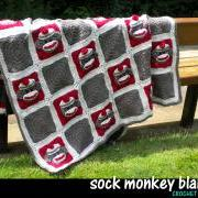 Sock Monkey Baby Blanket Crochet Pattern