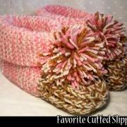 Favorite Cuffed Slippers for the Family Knitting Pattern