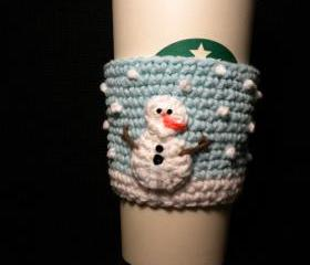 Snowman Coffee Cozy ..