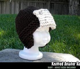 Knitted Aviator Hat ..