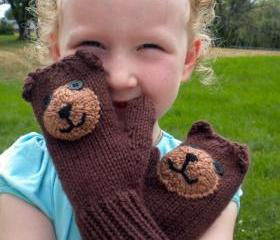 Teddy Bear Mittens P..