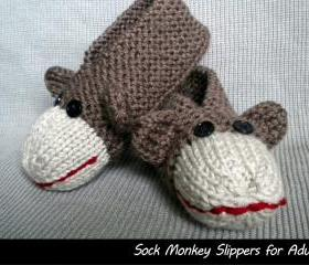 Sock Monkey Slippers..