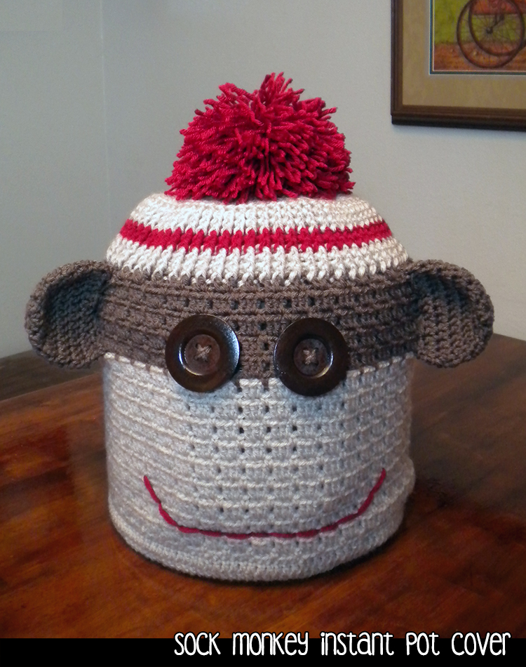 Sock Monkey Instant Pot Cover Crochet Pattern on Luulla