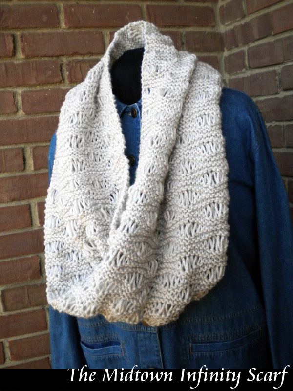 The Midtown Infinity Scarf Knitting Pattern On Luulla