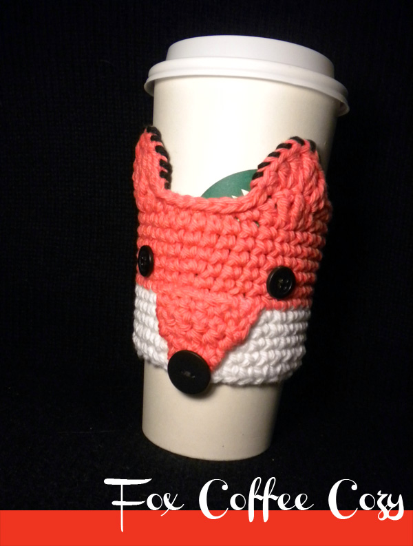 Fox Coffee Cozy Crochet Pattern on Luulla