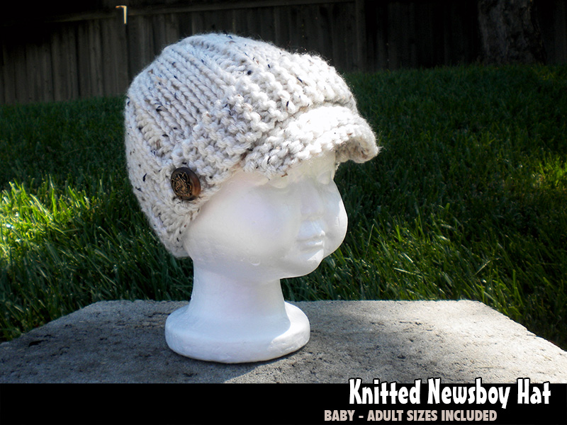 Quick Easy Knitted Newsboy Hat For The Family Knitting Pattern On