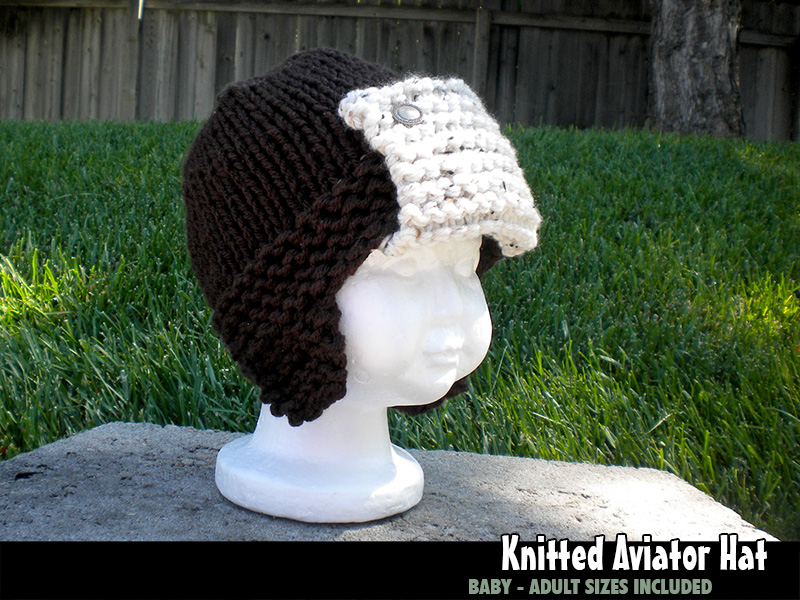 Knitted Aviator Hat For The Family Knitting Pattern On Luulla