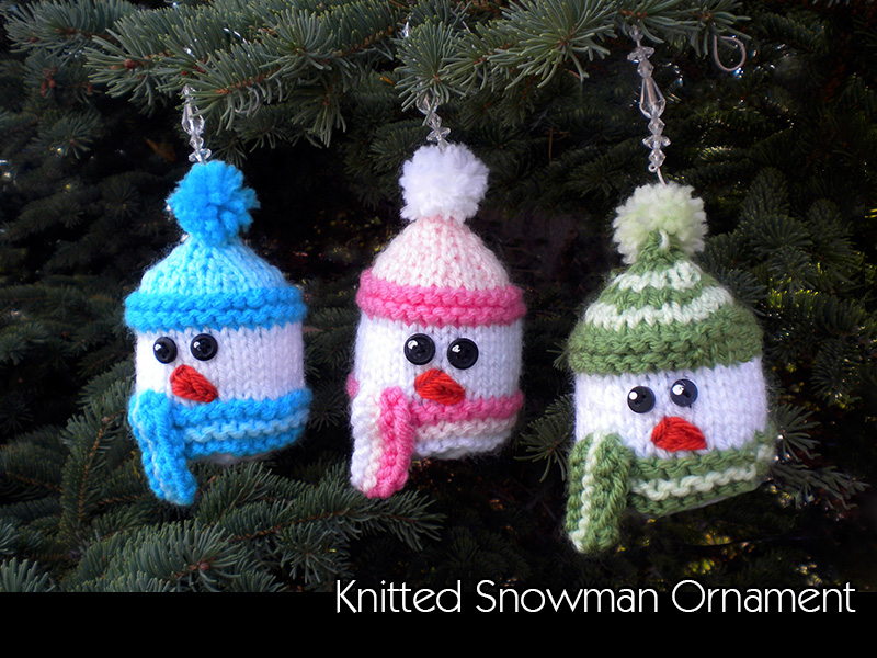 Knitted Snowman Ornament Knitting Pattern On Luulla