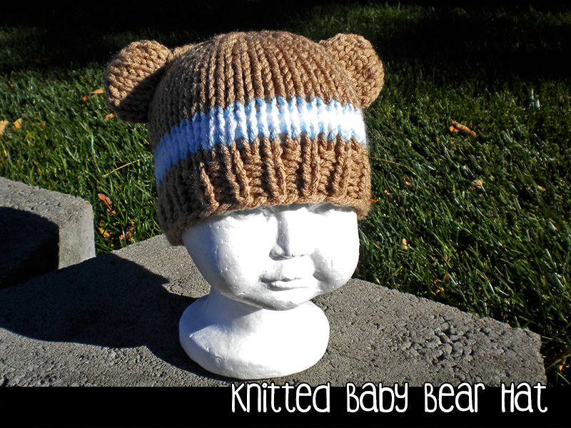 7ae7729e91b Knitted Baby Bear Hat For The Family Knitting Pattern on Luulla