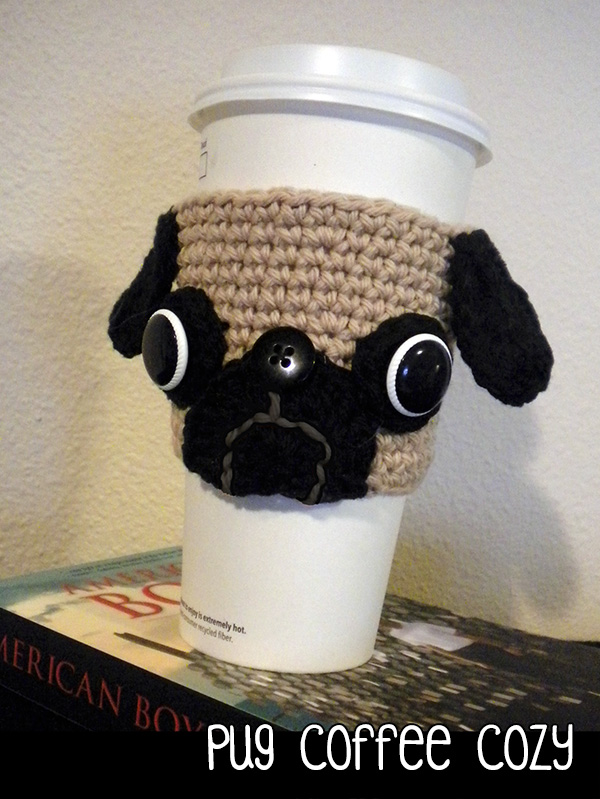 Pug Coffee Cozy Crochet Pattern