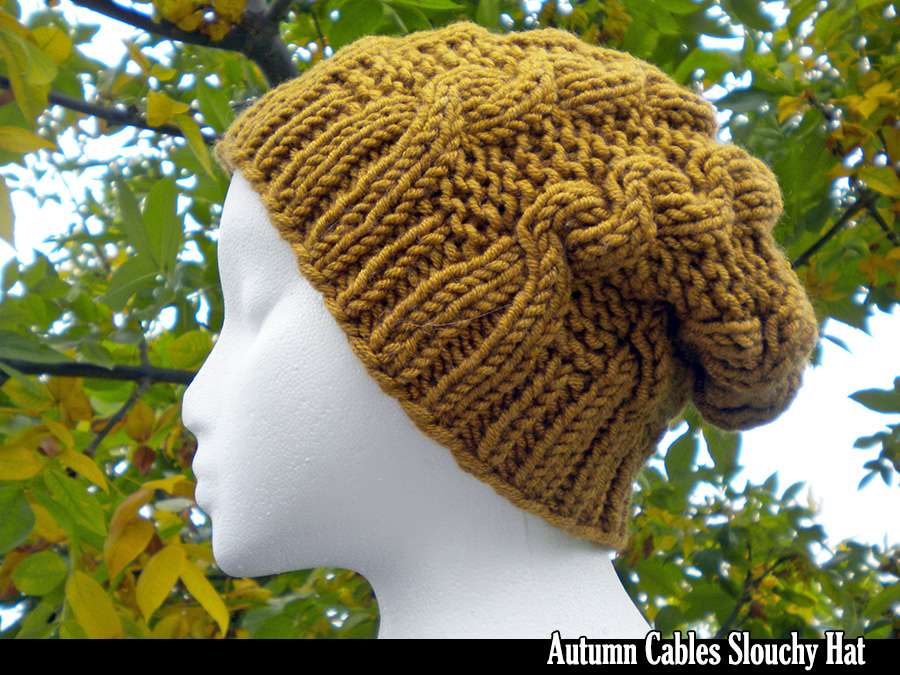 167b210de6c Autumn Cables Slouchy Hat Knitting Pattern on Luulla