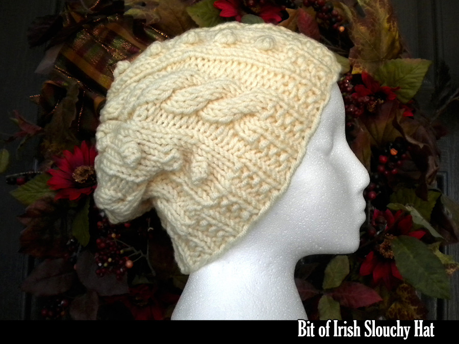 Bit of Irish Slouchy Hat Knitting Pattern