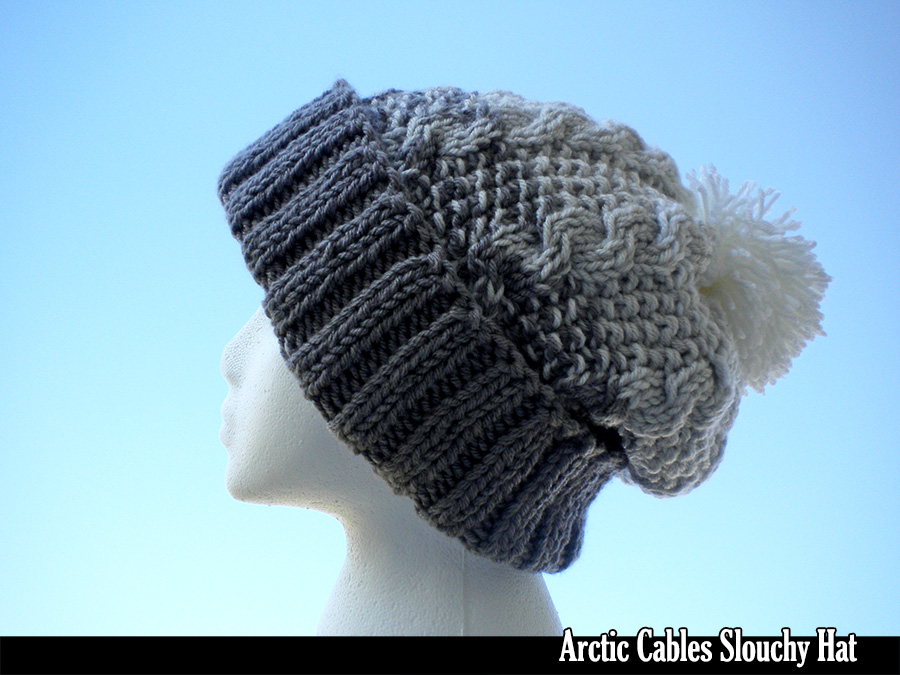 Arctic Cables Slouchy Hat Knitting Pattern