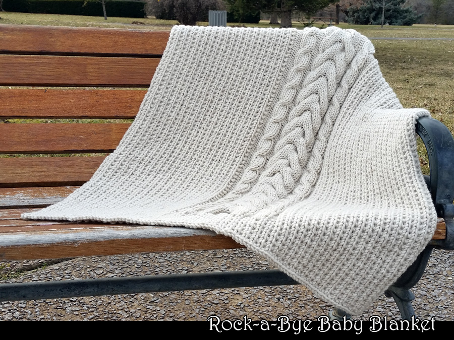 Rock-a-Bye Baby Blanket Knitting Pattern on Luulla