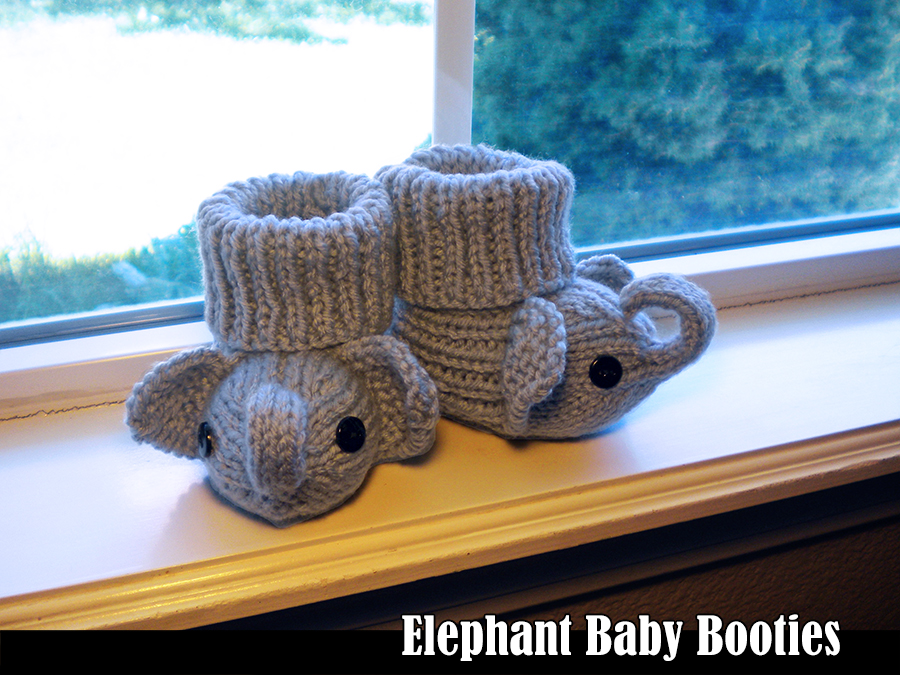 Elephant Baby Booties Knitting Pattern On Luulla