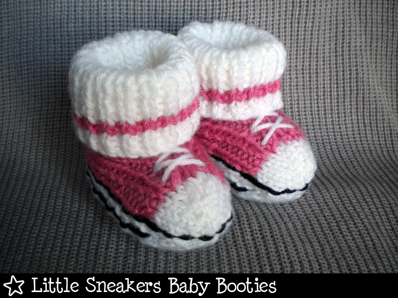 Little Sneakers Baby Booties Knitting Pattern on Luulla