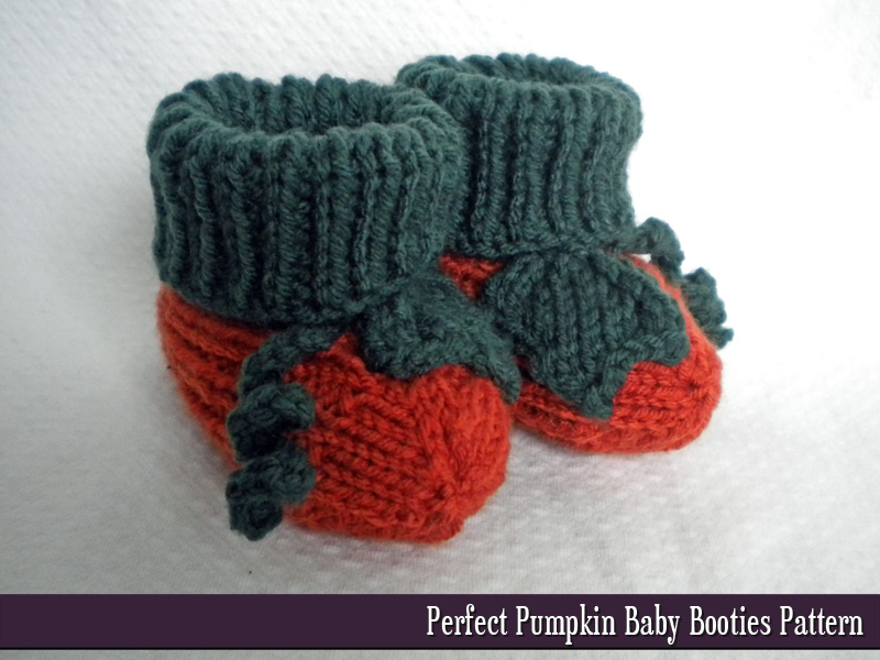 Pumpkin Baby Booties Knitting Pattern