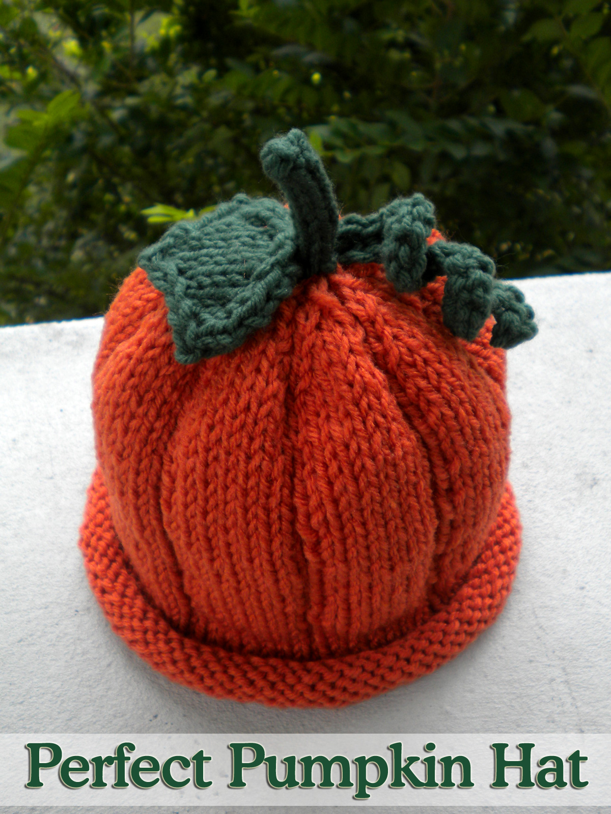 Perfect Pumpkin Hat Done On 2 Needles Knitting Pattern