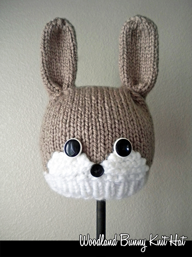 Woodland Bunny Hat Knitting Pattern on Luulla