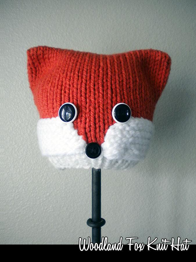 Woodland Fox Hat Knitting Pattern