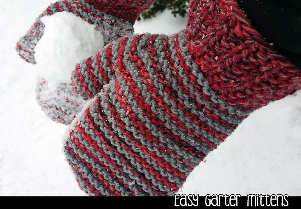 Easy Garter Mittens On 2 Needles Knitting Pattern On Luulla