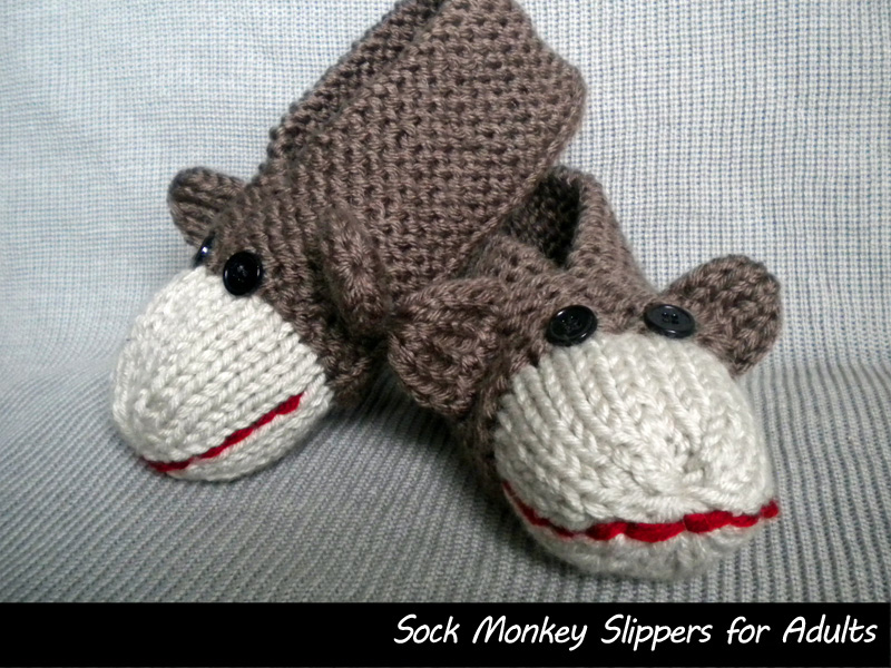 Sock Monkey Slippers For Men And Women On Luulla