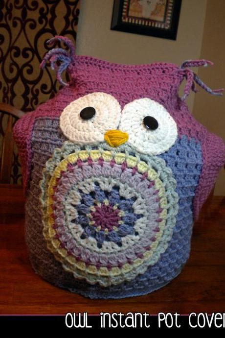 Owl Instant Pot Cover - Crochet Pattern