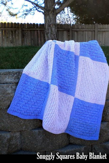 Snuggly Squares Baby Blanket Pattern